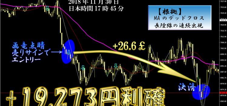 【知明流FX】FX以外でも機能する『画竜点睛』イギリス株価指数+34,561円の利益